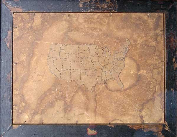 "Varujan Boghosian, 2006  America , construction 20.75"" x 16"" x 1"""