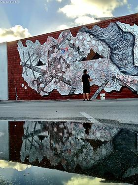 Andrew Schoultz's New Mural in Miami's Wynwood District | Presented by The Fountainhead Residency and Primary Flight