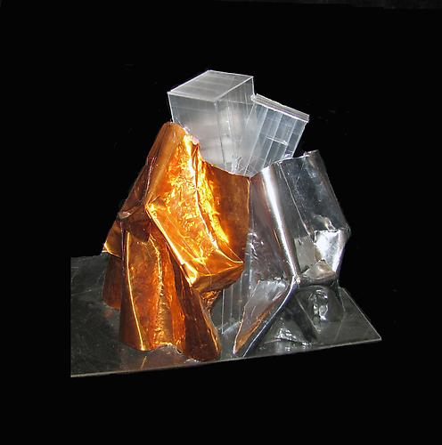 Parc des Ateliers project model, 2007.  Metal, vinyl, acrylic.  10.5 x 12 x 9.5 inches.  Courtesy of the artist and Leslie Feely Fine Art, LLC. Photo credit: Gehry Partners.