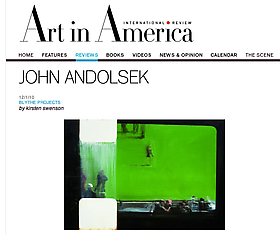 John Andolsek Art in America Review