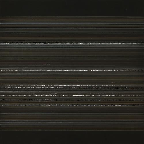 Aurora #47, 2012  Silver/aluminum/gold/copperpoint and black gesso on heavy weight Arches watercolor paper 12 x 12 inches