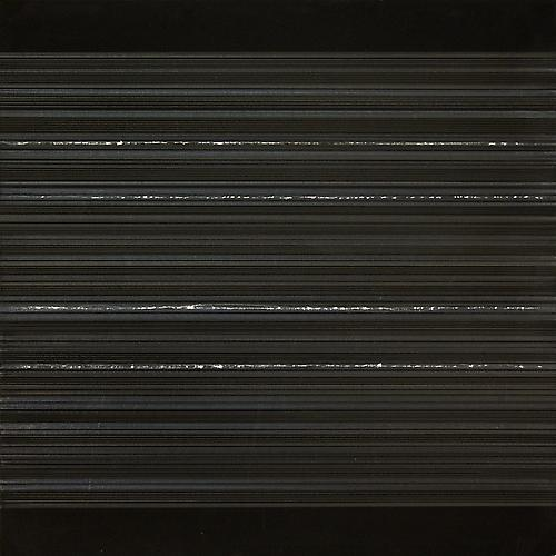 Aurora #48, 2012 Silver/aluminum/tin/pewterpoint and black gesso on heavy weight Arches watercolor paper 12 x 12 inches