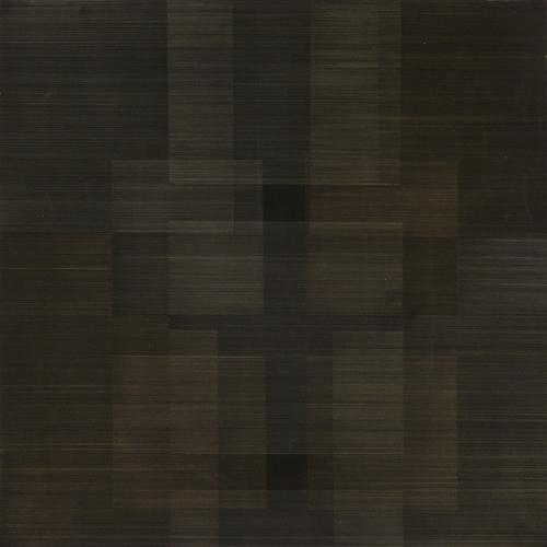 Polyphony #2, 2012 Gold/silverpoint and black gesso on Arches watercolor paper 18 x 18 inches