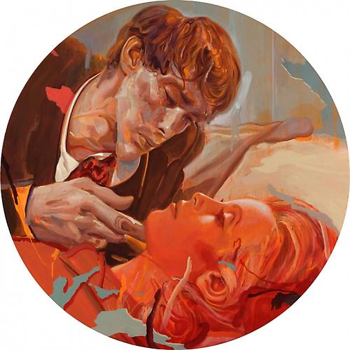 Still 2, 2010 Acrylic on Canvas Mounted on Wood Panel 40 inches Diameter