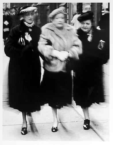 Three ladies, front view mid 1950s Gelatin Silver Print