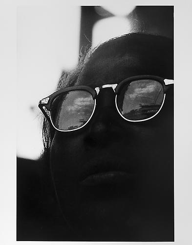 Woman with reflecting sunglasses  mid 1950s Gelatin Silver Print