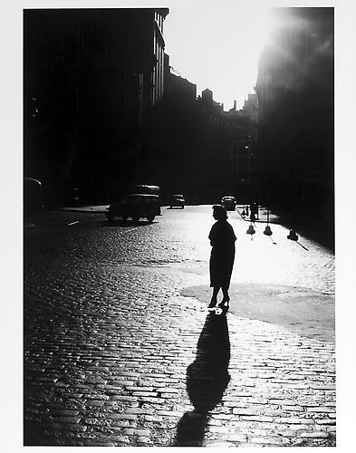 Woman's silhouette and shadow  mid 1950s Gelatin Silver Print
