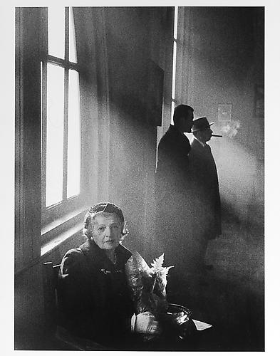 The artist's mother sitting in a waiting room at ship terminal mid-1950s Gelatin Silver Print
