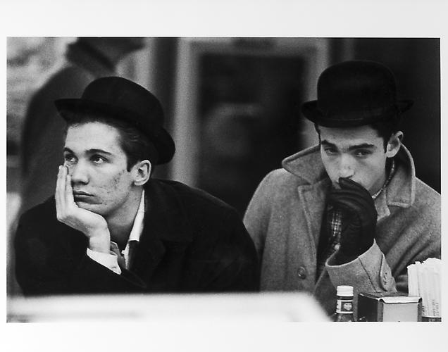 Two pensive men, New Year's Eve mid 1950s Gelatin Silver Print