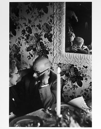 Elderly couple and reflection  mid 1950s Gelatin Silver Print