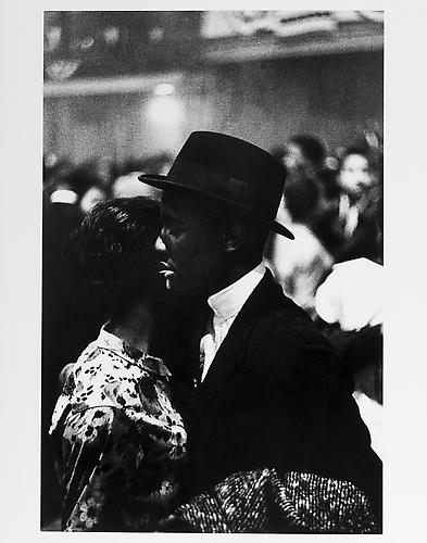 Harlem dance, couple dancing, man with toothpick mid 1950s Gelatin Silver Print