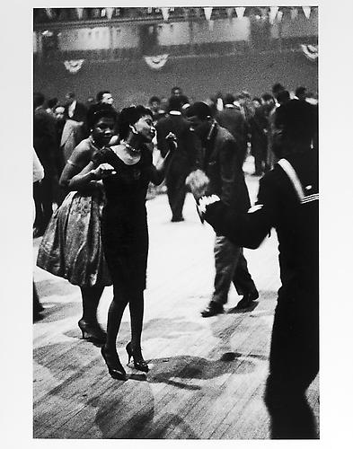 Harlem dance, sailor and woman in dark dress mid 1950s Gelatin Silver Print
