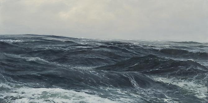 Swells, 2012 acrylic on panel 12 x 24 inches