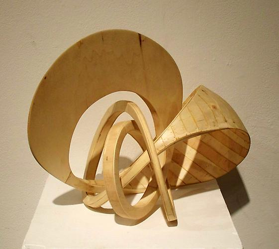 Spiral, 2011 Poplar Wood 13.5 x 16 x 15 inches