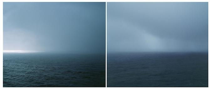 Untitled (Big Sur), 2001 Archival pigment print mounted on sintra and plexiglass Edition of 5 Diptych: 70 x 30 inches