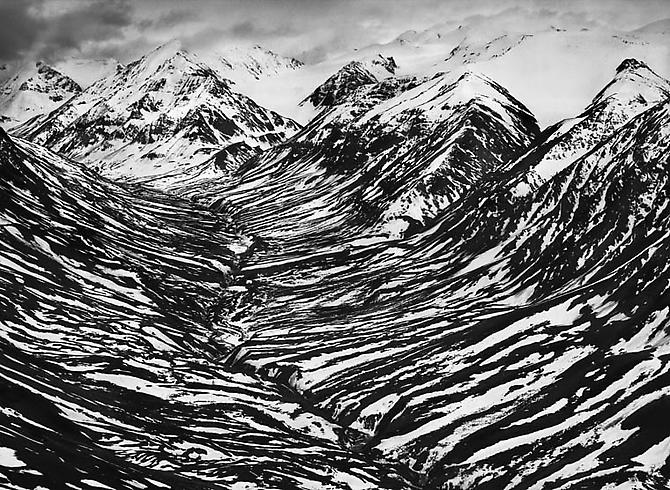 Bighorn Creek in the western part of the Kluane National Park, Canada 2011 Gelatin silver print