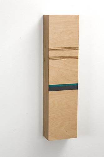 Block B, 2012 Baltic Birch plywood and wool felt 20 x 5 x 3 inches