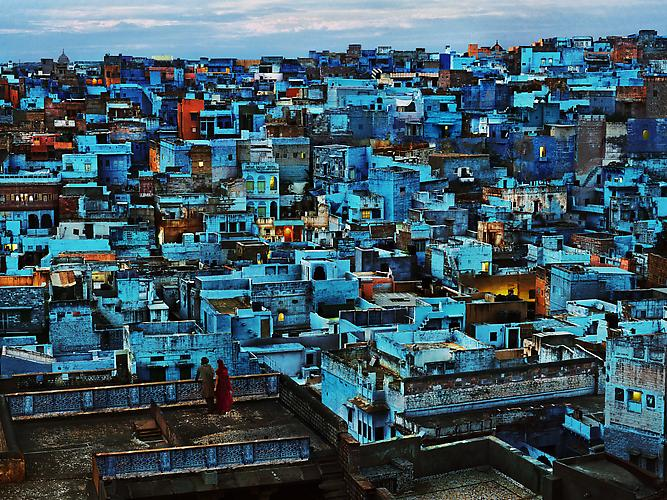 Steve McCurry Blue City, Jodhpur, India 2010.