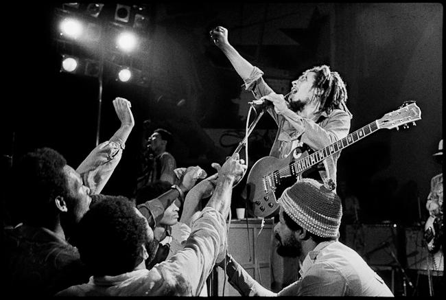 Bob live at The Lyceum, 1975 Silver Gelatin