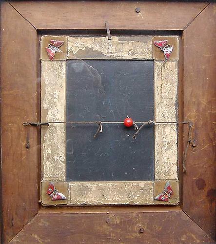 "Varujan Boghosian, 1989  Border Ballad , construction 14.75"" x 12.75"" x 2.75"""