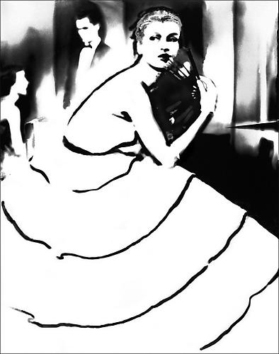Born to Dance: Margie Cato in a dress by Emily Wilkins, New York