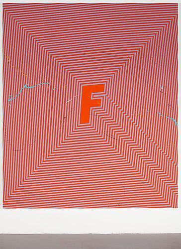 Paradise, 2013 Acrylic, flashe, marker, and graphite on canvas over panel 84 x 72 inches  213.4 x 182.9 cm