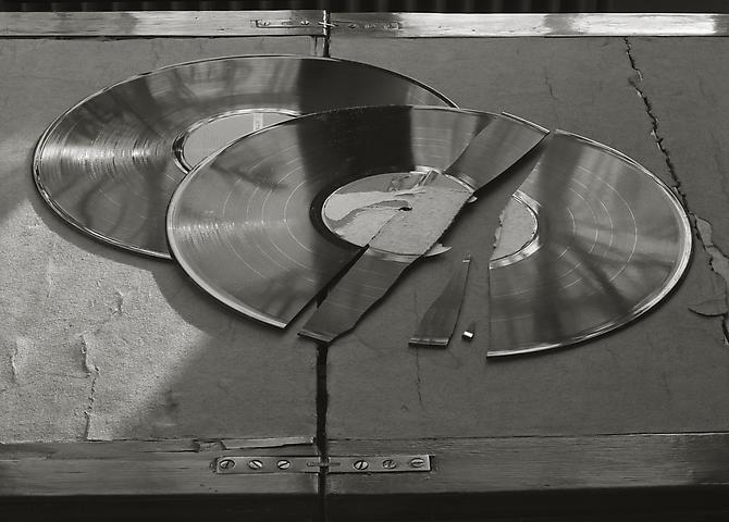 Broken Records 1983 gelatin silver print
