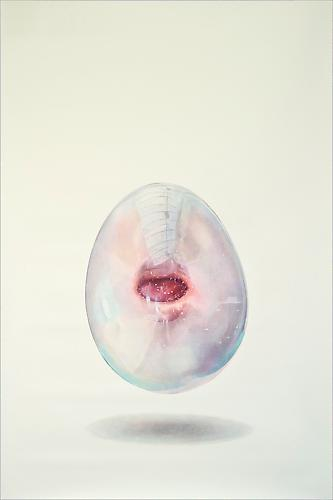 Bubblemouth #2, 2012 Colored pencil on paper 62 x 45 inches