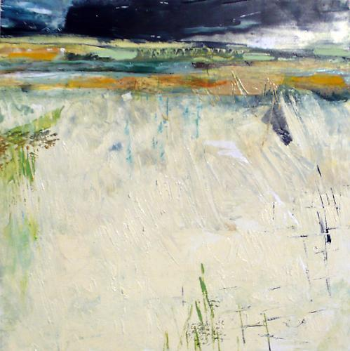 "Bunny Harvey, 2009  Early Storm , oil on panel 8"" x 8"""
