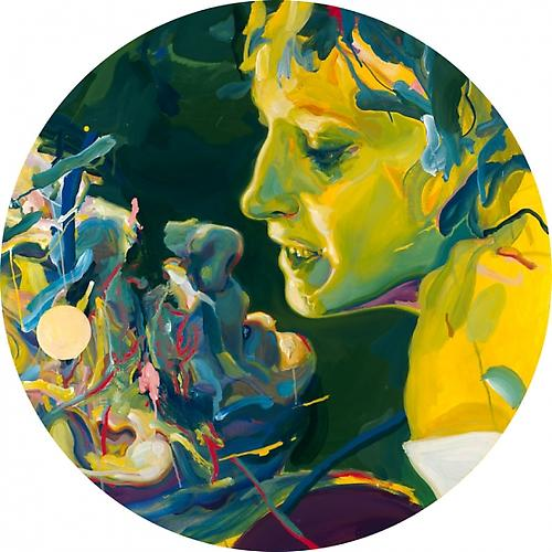 Still 1, 2010 Acrylic on Canvas Mounted on Wood Panel 40 inches Diameter