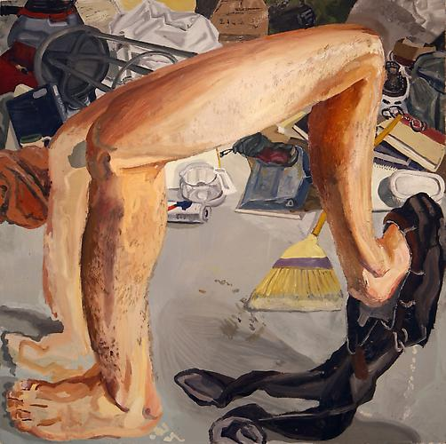 COLIN MUIR DORWARD | LELEGS TRYING TO FIT IN | OIL ON CANVAS | 48 X 48 INCHES | 2012