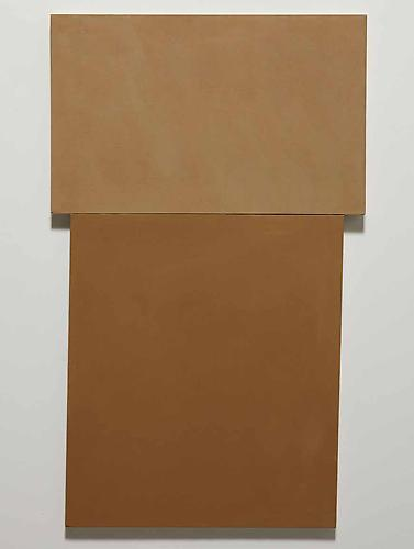 Richard Tuttle, 1964 Light Brown, Dark Brown Acrylic on canvas. 124.8 x 76.5 cm.