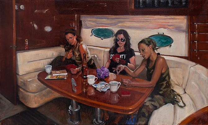 Card Game, 2012 Oil on linen 12 x 20 inches