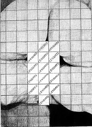 Censored Grid #1, 1974 Pencil on paper 14 x 11 inches