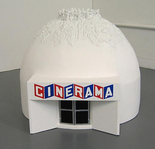 "Chris Beas ""Cinerama Dome"", 2004 Wood, plaster and paint 24 x 24 inches"