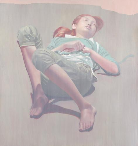Sleeper, 2012  Oil on Wood Panel 37 x 39 inches