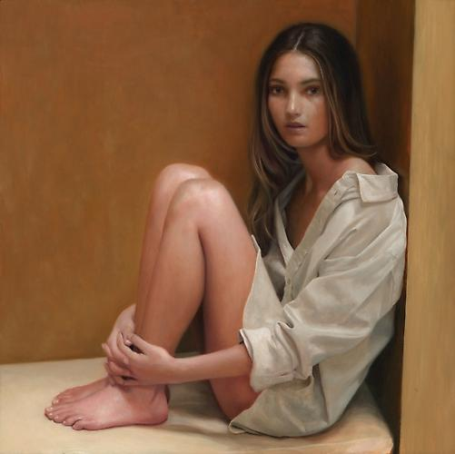 Lily Aldridge, 2012   Oil on Wood Panel  12 x 12 inches