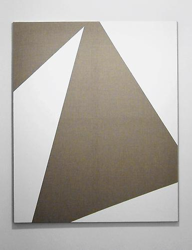 Figure/Background I , 2011, wood, linen, acrylic gesso, 54.75 x 44.8 inches