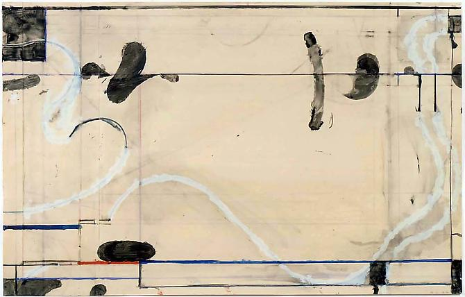 Richard DIEBENKORN Untitled, 1986 Gouache, crayon and collage on paper 24 x 37 inches