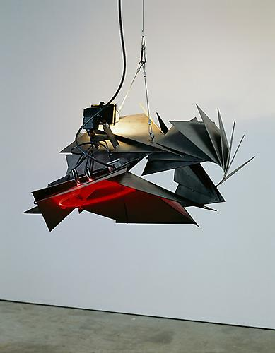 Night Session, Blood, 1996 steel, neon and halogen 22 x 41 x 27 inches