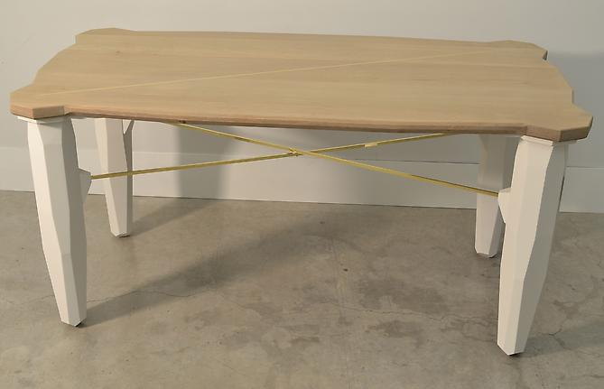 Transition Desk, 2012 Oak, brass and paint 30 x 60 x 30 inches