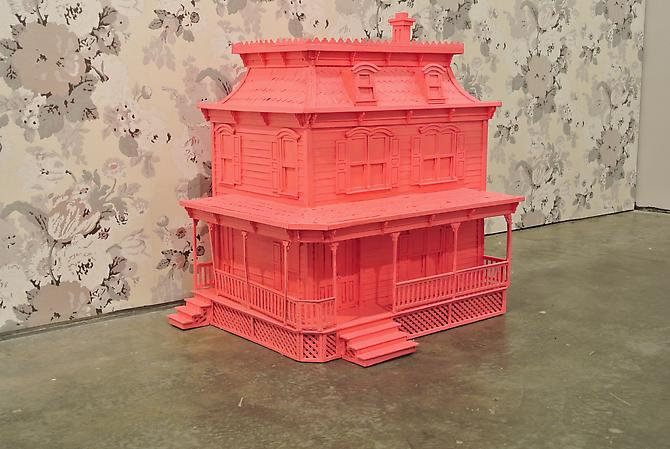 Dollhouse (Lover's Home 1) , 2012 Acrylic on wood 28 x 25 x 19 inches