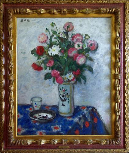 Fleurs dans un vase Oil on canvas, 31 ½ x 25 inches   Initialed upper left: GES Price upon request