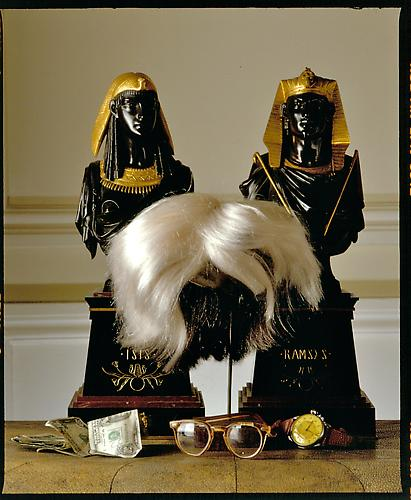 David Gamble Andy Warhol's Wig and Glasses, 1987. Archival Photograph, 30x 40 inches.