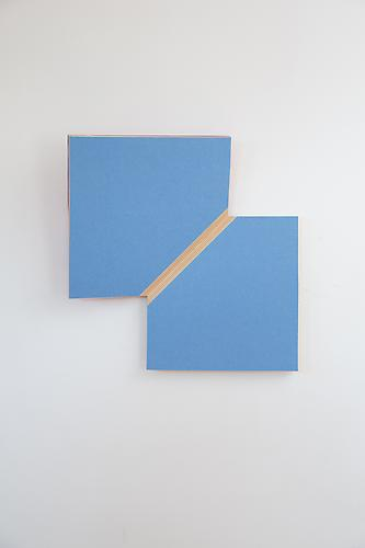 Diagonal Fold, 2013 Baltic birch plywood and wool felt 17 x 17 1/2 x 5 ( bends away from the wall 5 inches)