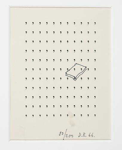 Dieter Roth From  Gorgona , 1966 letterpress and pen on white paper, 5 x 4 inches Listing #8