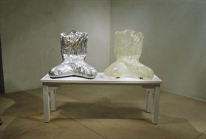 Dreaming of Immortality, 2006 cast aluminum, fiberglass, powder coated steel, sterling silver and wood 59 x 74 x 24 inches