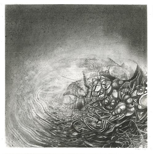 Fuyu #3, 2012 Graphite on bristol 13 x 13 inches
