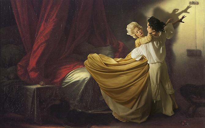 E2: Elizabeth Kleinveld and Epaul Julien  Ode to Fragonard's The Bolt , 2012 Ilford Gold Fibre Silk Print 24 x 38 inches