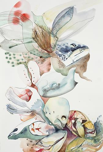 Emilie Clark, Untitled (EHR 32) from Sweet Corruptions (2011) Watercolor, graphite on paper 22h x 15w in (55.88h x 38.1w cm)